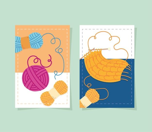 Вязание карт из шерсти