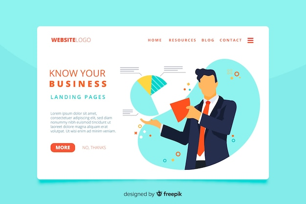 Know your business landing page