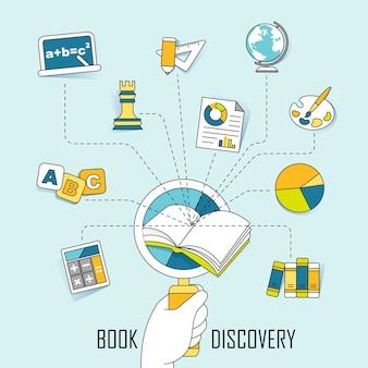 지식 개념: 선 스타일의 책에서 발견 지식