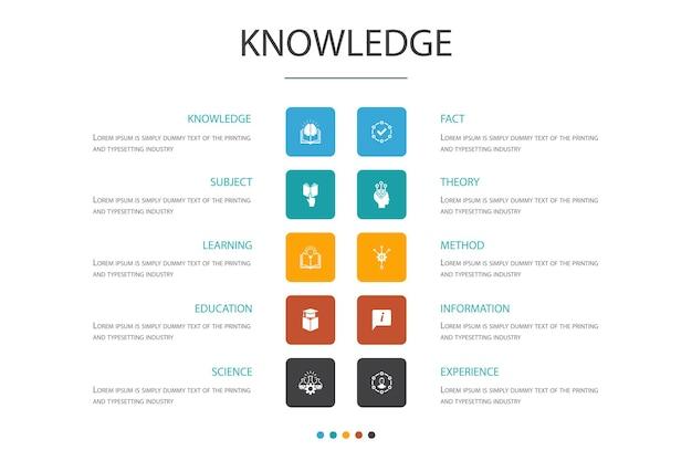 知識インフォグラフィッククラウドデザインtemplate.subject、教育、情報、シンプルなアイコンを体験