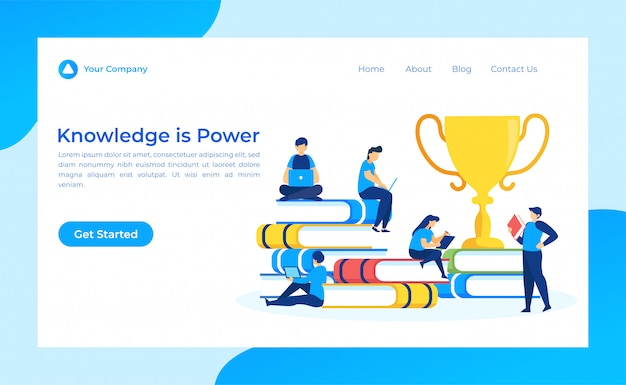 Knowledge is power landing page