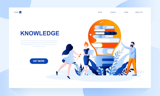 Knowledge landing page template with header