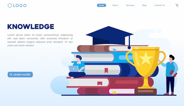 Knowledge landing page template