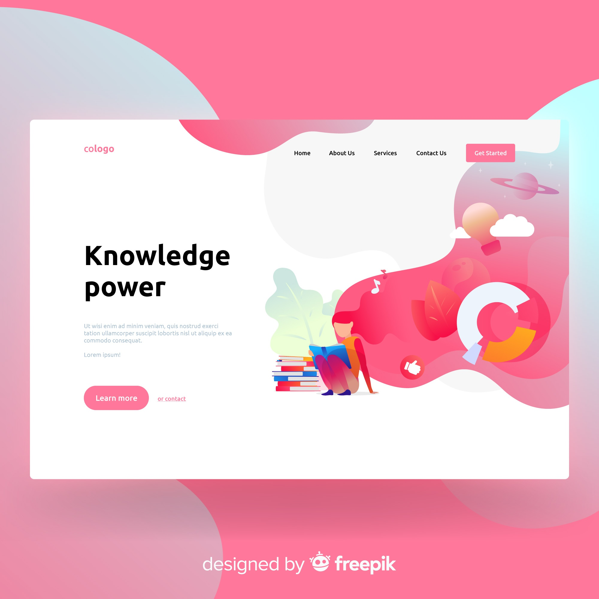 Knowledge power landing page