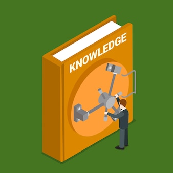Knowledge valuable flat isometric