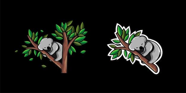 코알라 동물 수면 디자인
