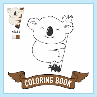 Koala animals coloring pages book