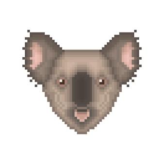 コアラのピクセルアートの肖像画