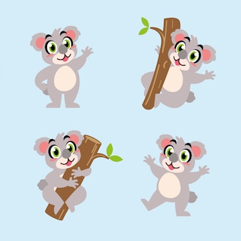 コアラの漫画のキャラクターの楽しいマスコット