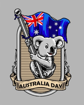 Koala celebrate the australia day