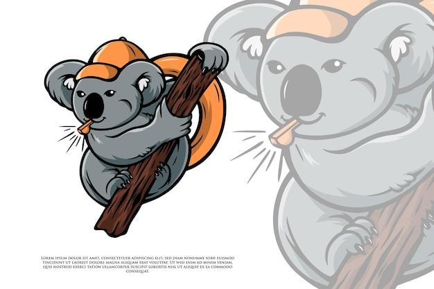 Koala the coast guard illustration