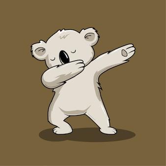 コアラ軽くたたくダンス漫画かわいい動物の軽くたたく