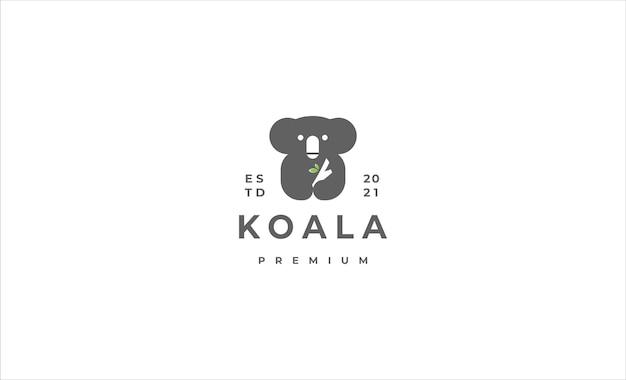 Коала логотип значок дизайн векторные иллюстрации
