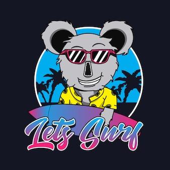 Koala logo for t shirt