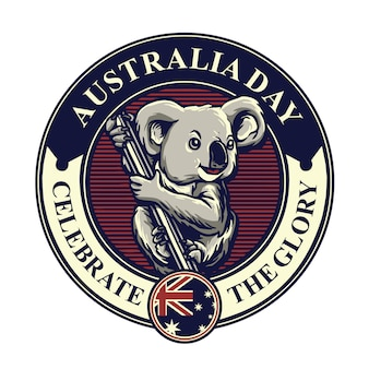 Koala mascot for australia day badge