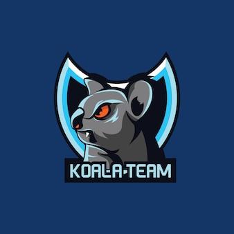 コアラマスコットeスポーツゲームチーム