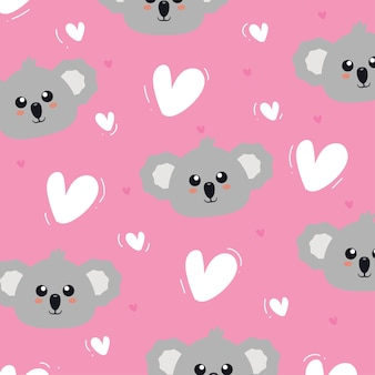 Koala seamless pattern