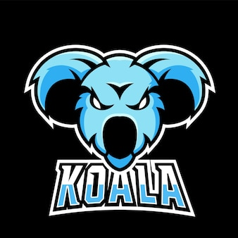 Koala sport and esport gaming mascot logo