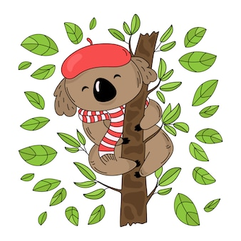 Koala tree australian forest bear
