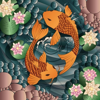 Koi background design