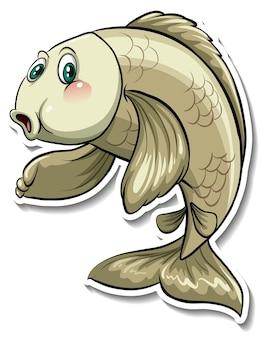 Adesivo cartone animato pesce carpa koi