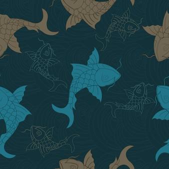 잉어 중국 잉어 원활한 패턴