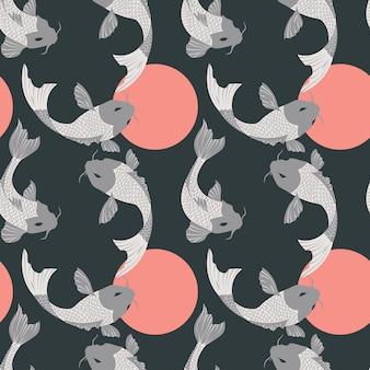 Koi pattern design
