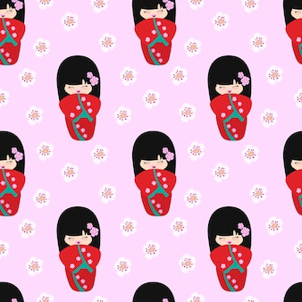 Kokeshi pattern