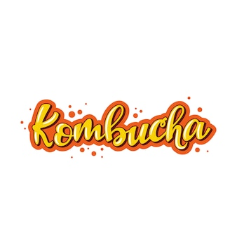 Kombucha lettering logo.