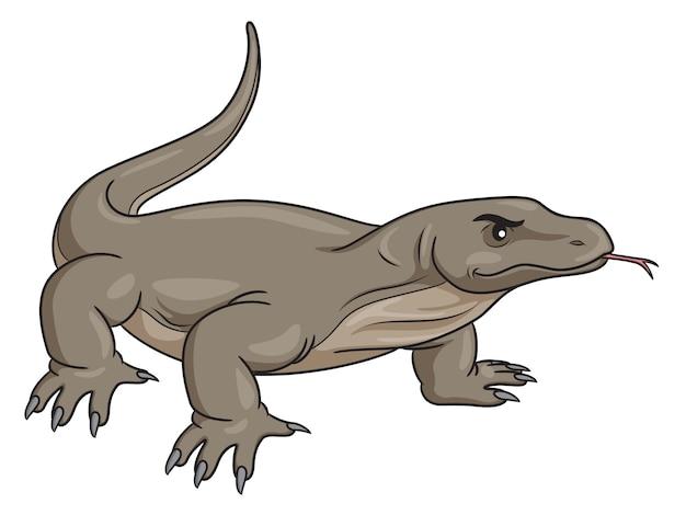 Komodo dragon cartoon