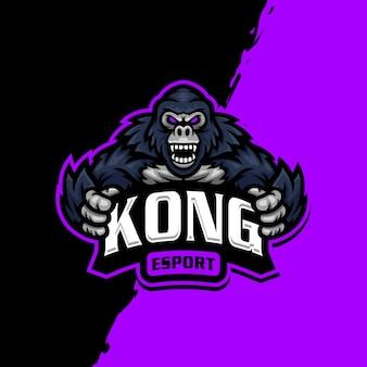 Kong mascot logo esport gaming