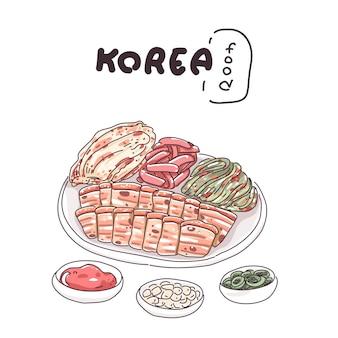 韓国の伝統的な食べ物のイラスト