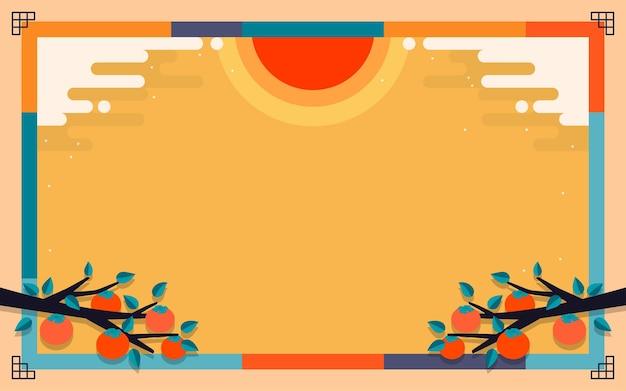 Korean autumn background vector