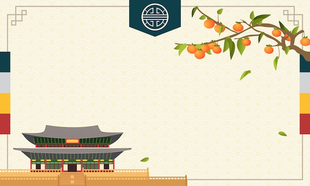 Korean chuseok background