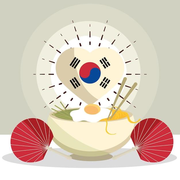한국 음식과 팬