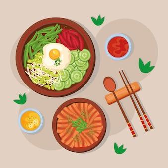 한국 음식 엽서