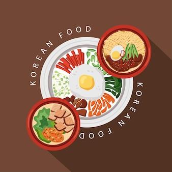 プレート付き韓国料理ポスター