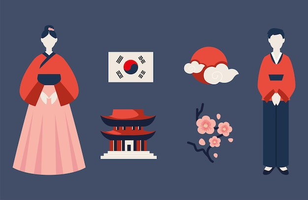 한국어 아이콘 세트