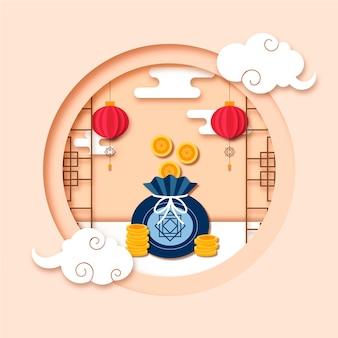 Portamonete coreano in stile carta capodanno