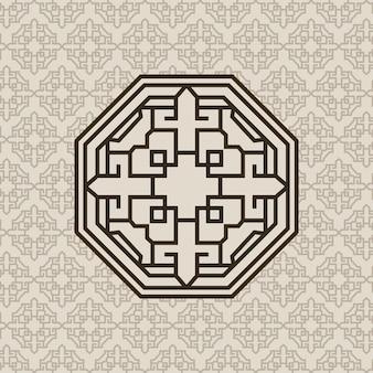 기하학 도형이있는 한국 패턴