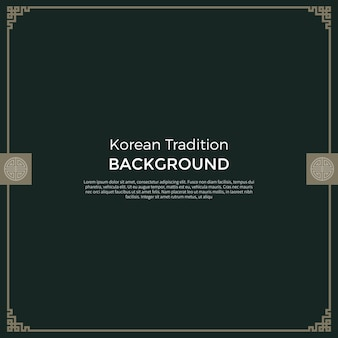 한국 전통 새해 배경