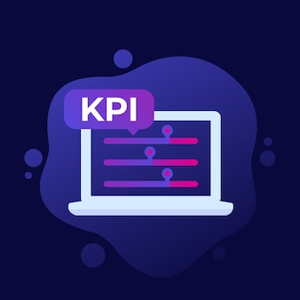 Kpi、ビジネスインジケーターアイコン