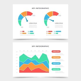 Kpi infographic 템플릿