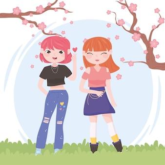 Kpop girls outdoor