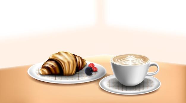 크래프트 종이 포일 지퍼 잠금 백 식품은 로고용 커피 컵 모형 템플릿이 있는 파우치를 서 있습니다.