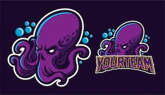 Kraken mascot logo design