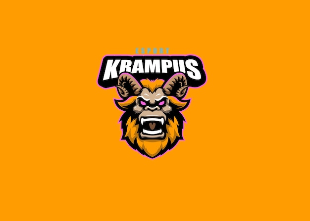 Krampus team esport 로고 디자인