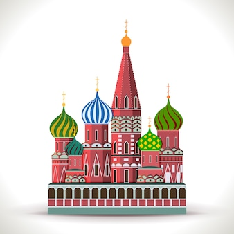 Kremlin in moscow isolated