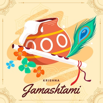 Krishna janmashtami 일러스트