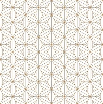 Бесшовные шаблон на основе японского орнамента kumiko.golden цветные линии.